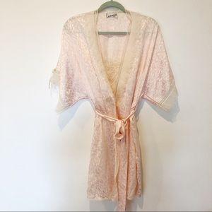 Vintage Lingerie Chemise Robe 2 Pieces Sleep wear
